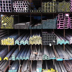 steel bar material components in a construction