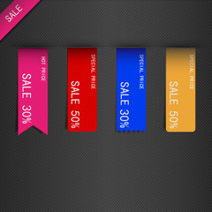 set of price sale ribbon.