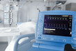 Leinwanddruck Bild - ICU room and cardiovascular monitor