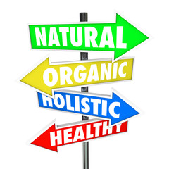Natural Organic Holistic Healthy Eating Food Nutrition Arrow Sig