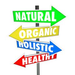 Natural Organic Holistic Healthy Eating Food Nutrition Arrow Sig