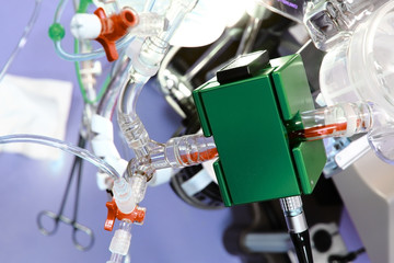 Medical Equipment. Detail of cardiopulmonary bypass