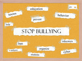 Stop Bullying Corkboard Word Concept poster