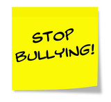 Stop Bullying Sticky Note poster
