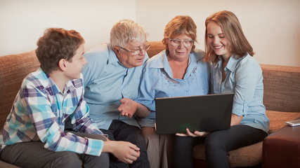 Family and Laptop