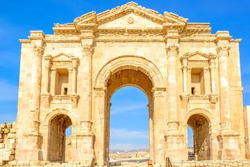 Gate Ruins of the Greco-Roman city of Gerasa in Jerash, Jordan