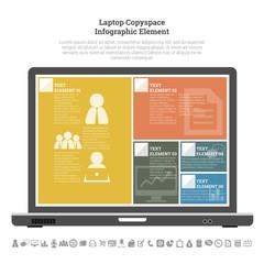 Laptop Copyspace Infographic Element