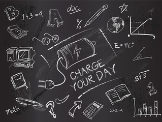 Charge your day on blackboard