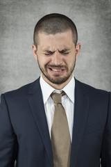 businessman is very sad