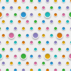 Vector Background Dot Pattern #水玉模様