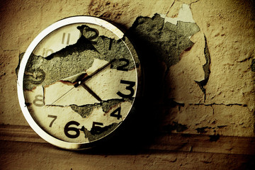 Grunge Clock Background