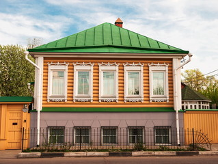 Sample Russian city of wooden architecture of 18-19 centuries