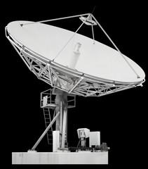 Large satellite dish parabolic antenna designed for transatlanti