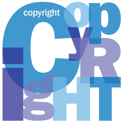 """COPYRIGHT"" Letter Collage (intellectual property patent author)"