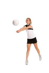 hübsche Volleyball Spielerin