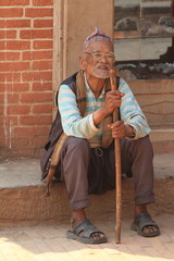 Mann aus Nepal