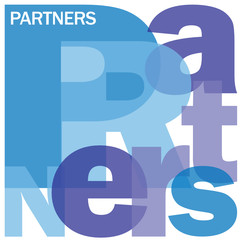 PARTNERS Letter Collage (business collaboration global)