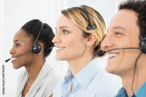 Happy Telephone Operators