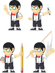 Nerd Boy Customizable Mascot 12