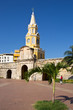 canvas print picture - Cartagena, Clocktower