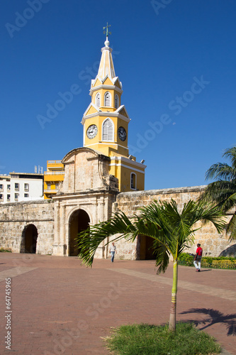 canvas print picture Cartagena, Clocktower