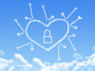 Cloud shaped as Lock heart