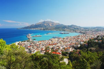View of the main town of Zakynthos, Greece