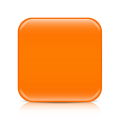 Orange blank icon template with copy space