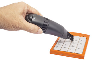 Portable Vacuum Cleaner on keypad
