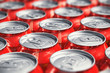 Macro view of drink cans - 64747707