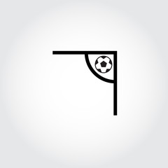 Soccer corner icon. Football. Vector