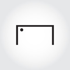 Soccer goal icon. Football. Vector