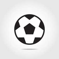 Soccer ball (football ball) icon. Vector