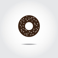 Donut icon. Vector