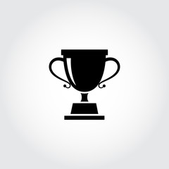 Trophy cup icon. Vector