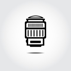 Camera Lens icon. Wide. Vector