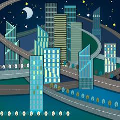 Night City landscape