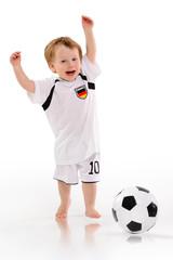 Deutschland Fan - spielt fussball