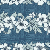 Traditional Hawaiian wallpaper - vector seamless pattern