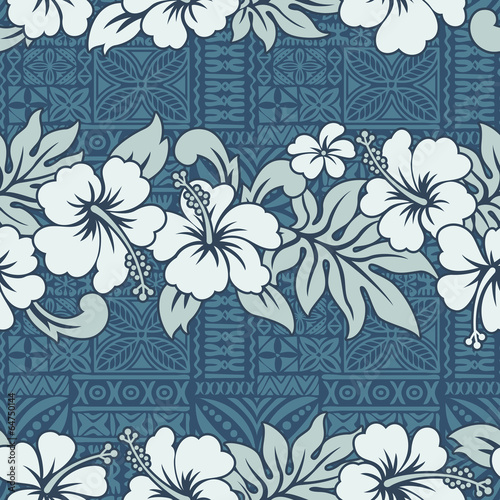 Traditional Hawaiian wallpaper - vector seamless pattern - 64750144