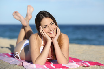 Young teenager girl on the beach