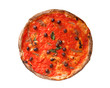 Pizza Marinara with anchovies and black olives