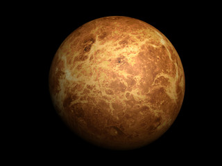 3D-rendering of planet Venus, high resolution