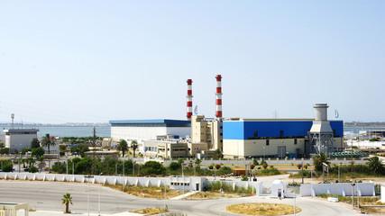 Zona industrial en el puerto de La Goulette, Túnez