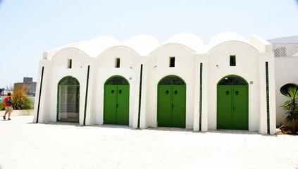 Arquitectura en el puerto de La Goulette, Túnez