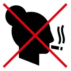 No smoking woman vector icon