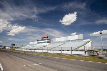 Jarama racetrack tribune.