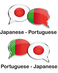 Japanese - Portuguese translator clouds