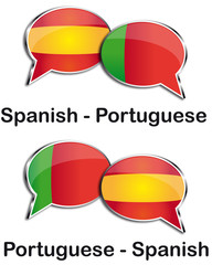 Spanish - Portuguese translator clouds