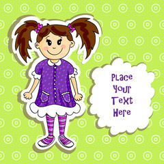 Little girl card